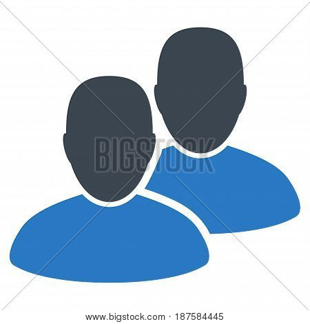 Users flat vector icon. An isolated illustration on a white background.