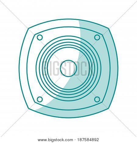 blue shading silhouette of loudspeaker vector illustration