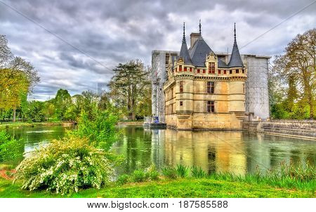 Azay-le-Rideau castle in Loire Valley, France. UNESCO world heritage site