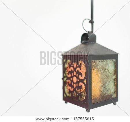 Lanterns on white