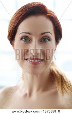 Beauty. Woman face in close-up