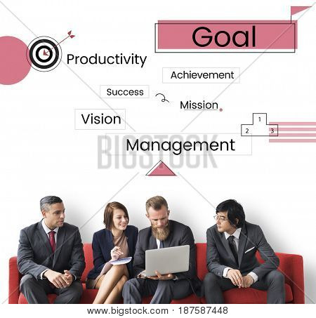 Business strategy plan goal graphic