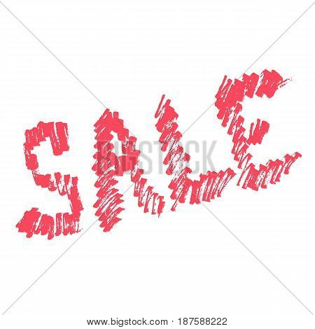 vector marker hand drawn word sale in red color