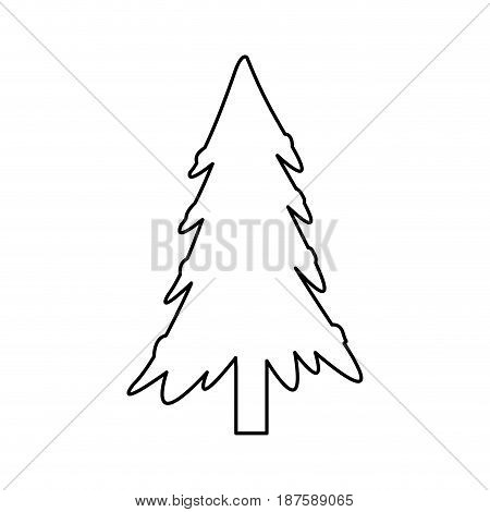 christmas tree decoration festive winter ornament vector illustration