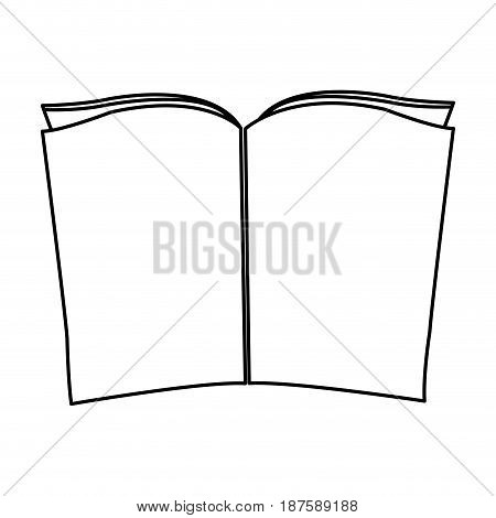 old music book ready for christmas song vector illustration
