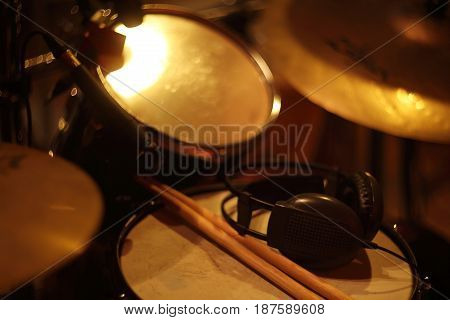 Drum Set At Studio