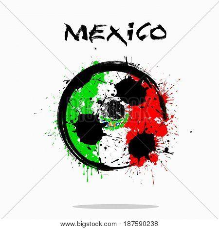 Flag Of Mexico As An Abstract Soccer Ball