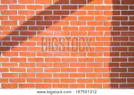Brick wall background. Red brick abstract texture With shadow