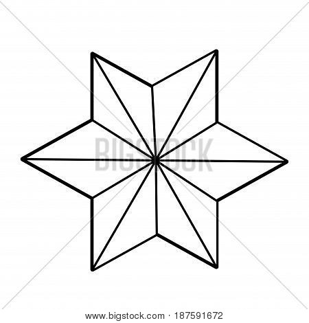 outline flower decoration origamy desing abstract vector illustration