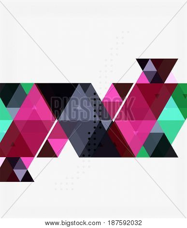 Triangle modern mosaic geometric template. template background for workflow layout, diagram, number options or web design