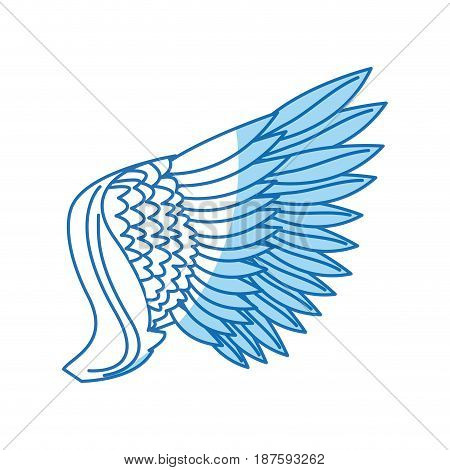 wing feathers bird freedom fly image vector illustration