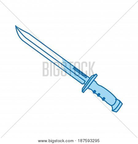 sword weapon vintage war decoration image vector illustration