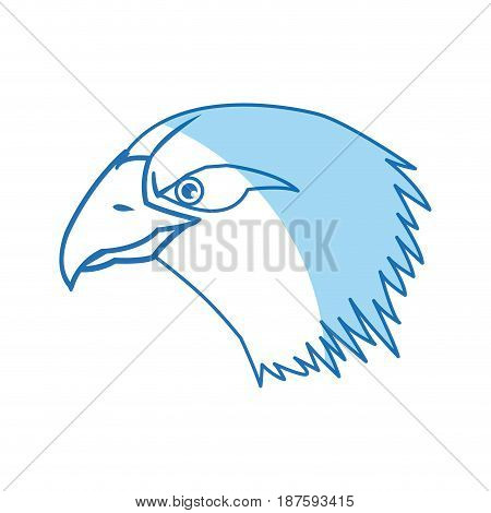cartoon head bald eagle bird national american vector illustration