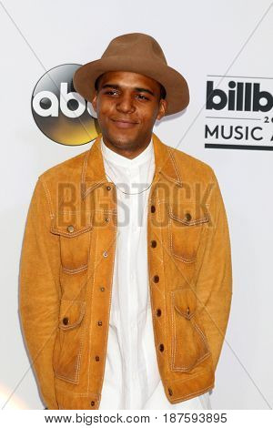 LAS VEGAS - MAY 21:  Christopher Jordan Wallace at the 2017 Billboard Awards Press Room at the T-Mobile Arena on May 21, 2017 in Las Vegas, NV