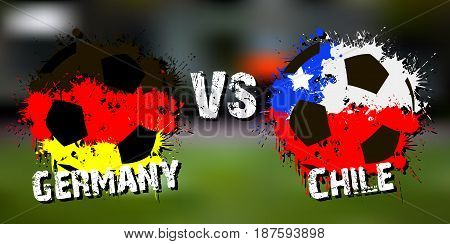 Banner Football Match Germany Vs Chile