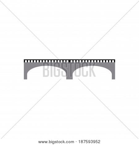 high-speed rail viaduct bridge elevated image vector illustration