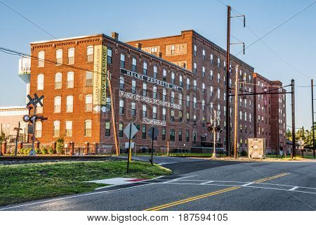 HELMETTA NEW JERSEY - MAY 3: The historic Helme Products factory now converted to lofts for living as seen on May 3 2016 in Helmet NJ.
