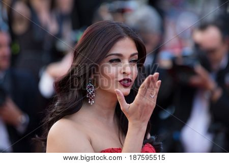Aishwarya Rai at the 120 Beats Per Minute (120 Battements Par Minute)  premiere for at the 70th Festival de Cannes.May 20, 2017 Cannes, France