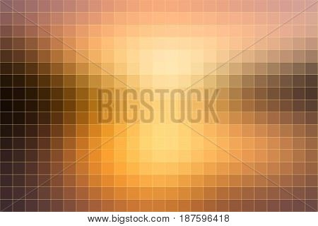 Yellow Coral Pink Black Mosaic Square Tiles Background