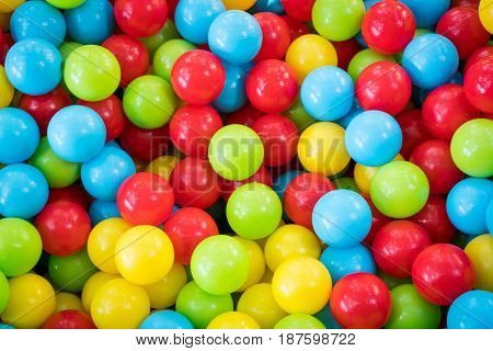 Colorful balls in playground for children