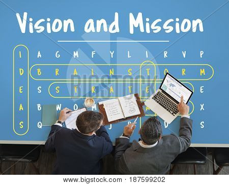 Business Vision and Mission Word Graphic