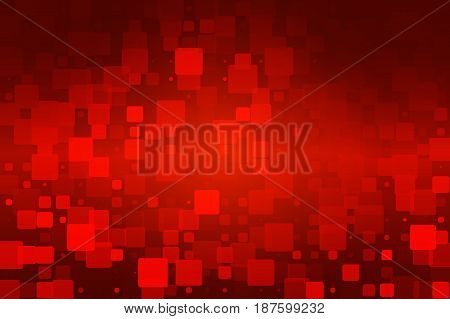 Red Brown Black Glowing Various Tiles Background