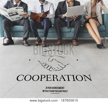 Partnership Teamwork Support Cooperation Achievement Organization Handshake Graphic