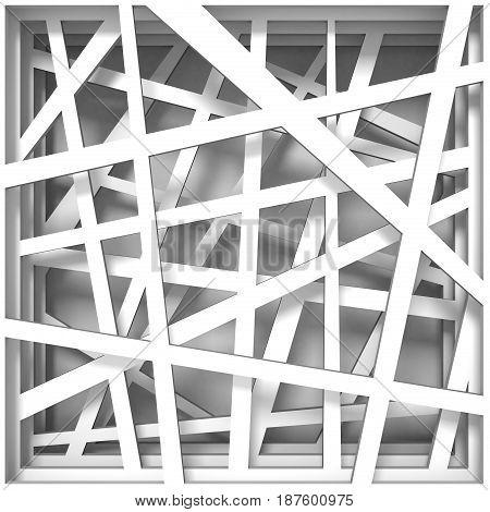 Paper Cut Out Square 3D