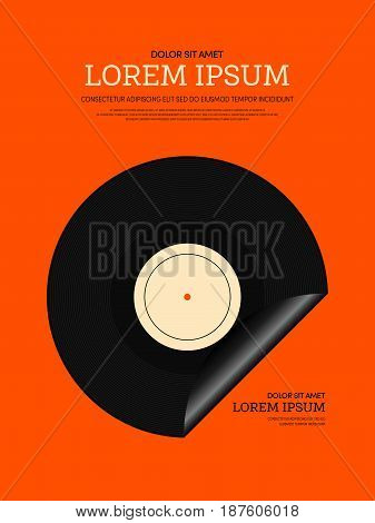 Music retro vintage style. Graphic element template can be used for poster background printing backdrop vector illustration