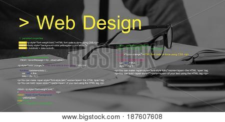 Web design is about layout of the interface.