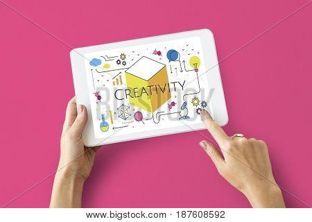 Think Creation Development Innovation Technology Word Graphic