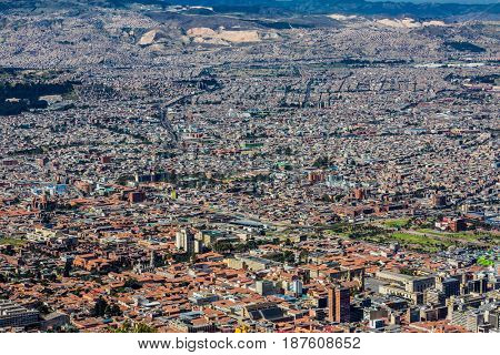 Skyline cityscape in Bogota, capital city of Colombia, South America