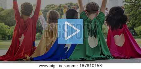 Play Button Media Entertainment Graphic