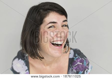 Caucasian Girl Smiling Positive Happy