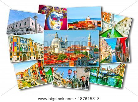 Collage of images of Venice, Italy, Europe