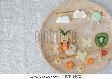 Butterfly Lunch Plate, Fun Food Art For Kids
