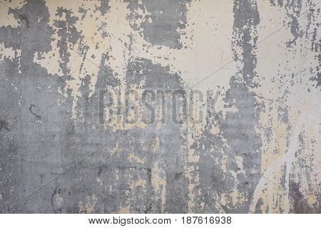 Vintage Old Damaged Wall Concrete Background. Grunge Texture
