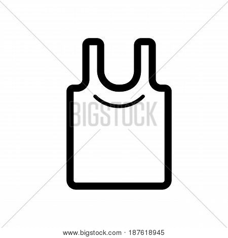 Blank shirt vector icon. Black and white cloth illustration. Outline linear shopping icon. eps 10