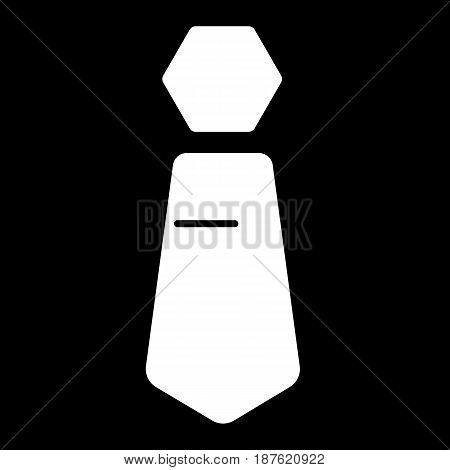 Tie vector icon. Black and white tie illustration. Solid linear man clothing icon. eps 10