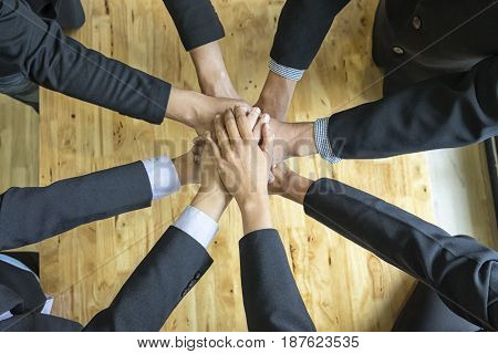 Business handshake for success business business success concept soft focus black & white tone