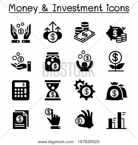 Financial Investment icons set  vector illustration graphic design