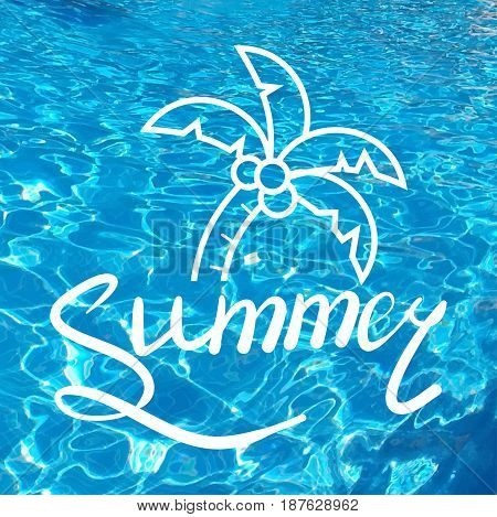 Written Inscription With A Brush. Lettering Summer. Hand Drawn Elements For Summer Calligraphic Desi