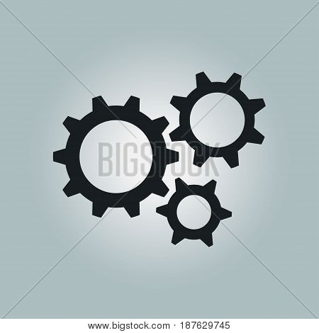 Gear icon.The development and management of business processes.