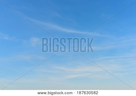 Beautiful clouds and blue sky for background