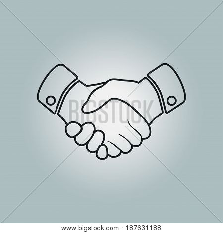 Handshake sign icon. Successful business symbol. Flat design style.