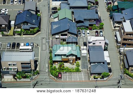 Aerial View Of Yamagata City In Tohoku, Japan