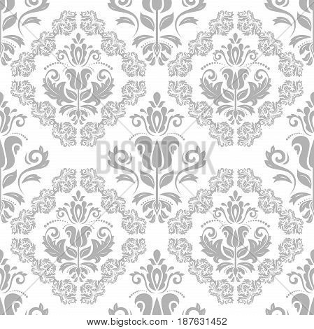 Seamless classic light pattern. Traditional orient ornament. Classic vintage background