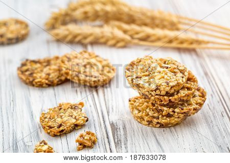 Cereal Cookies With Raisins And Nuts