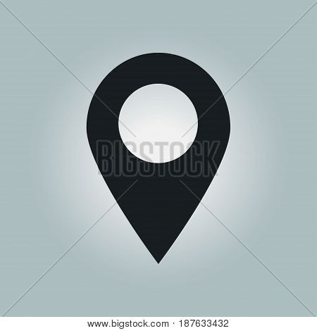 Map pointer icon. GPS location sign. Flat design style.