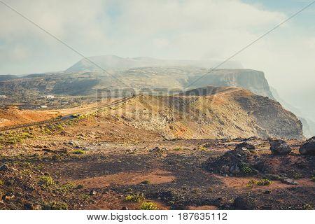 Impressive View From Mirador Del Rio, Lanzarote, Canary Islands